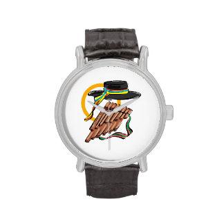 música design.png de la cinta de la flauta de la c relojes de pulsera
