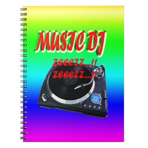 Música DJ con el fondo Notebook