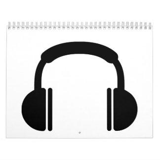 Música DJ de los auriculares Calendario