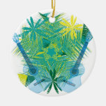 musica Double-Sided ceramic round christmas ornament
