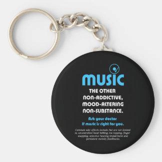 Música: El otro no adictivo, humor-alterando… Llavero Redondo Tipo Pin