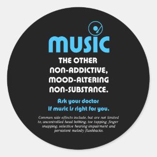 Música: El otro no adictivo, humor-alterando… Pegatina Redonda