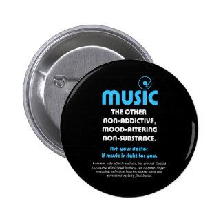 Música: El otro no adictivo, humor-alterando… Pin Redondo 5 Cm