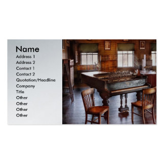Música - el piano de cola tarjeta de visita
