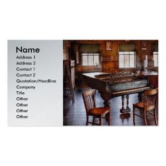 Música - el piano de cola tarjetas de visita