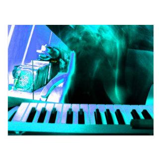 Música electrónica 2 tarjeta postal