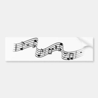 música en el aire pegatina para auto