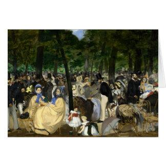 Música en el jardín de Tuileries - Eduardo Manet Tarjeta De Felicitación