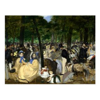 Música en el jardín de Tuileries - Eduardo Manet Tarjeta Postal