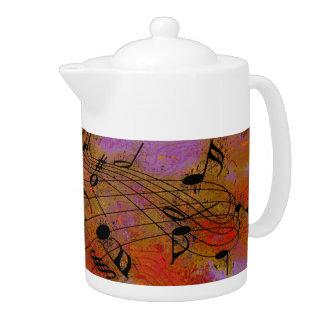 MÚSICA EN el pote del té del AIRE