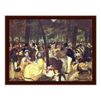 Música en el Tuileries de Manet Eduardo Tarjetas Postales