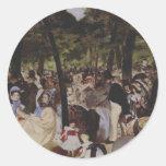 Música en el Tuileries Etiquetas Redondas