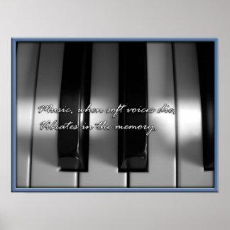 música en la memoria póster