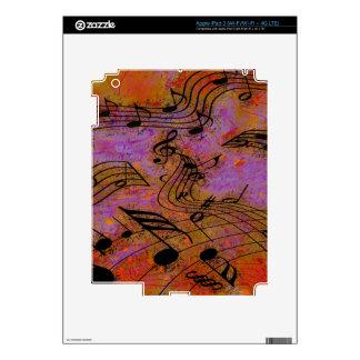 MÚSICA EN la piel del iPad del AIRE iPad 3 Pegatina Skin