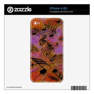 MÚSICA EN la piel del iPhone del AIRE Calcomanía Para El iPhone 4