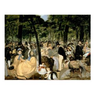 Música en los jardines de Tuileries, 1862 Tarjeta Postal