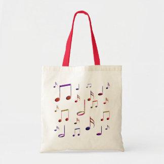 música en mi bolso bolsa tela barata