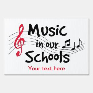 Música en nuestras escuelas señal