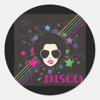 Música enrrollada de los años 80 80s de la reina etiqueta redonda