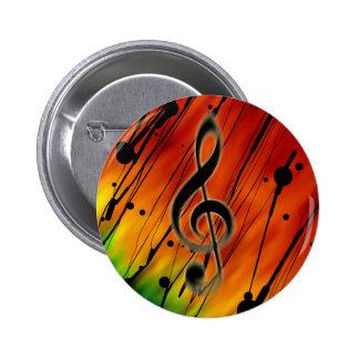 Música entintada pin redondo 5 cm