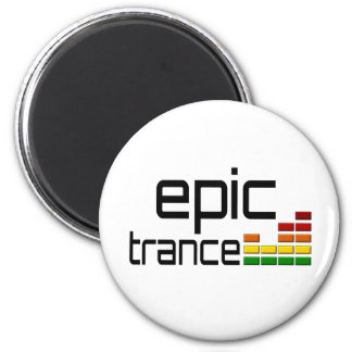 Música épica del trance con el equalizador estéreo imán redondo 5 cm
