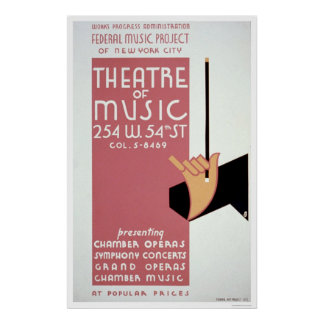 Música federal Nueva York WPA 1940 Posters