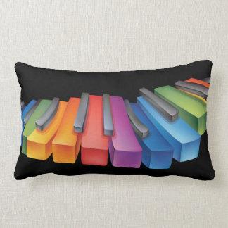 Música fresca del teclado colorido cojín
