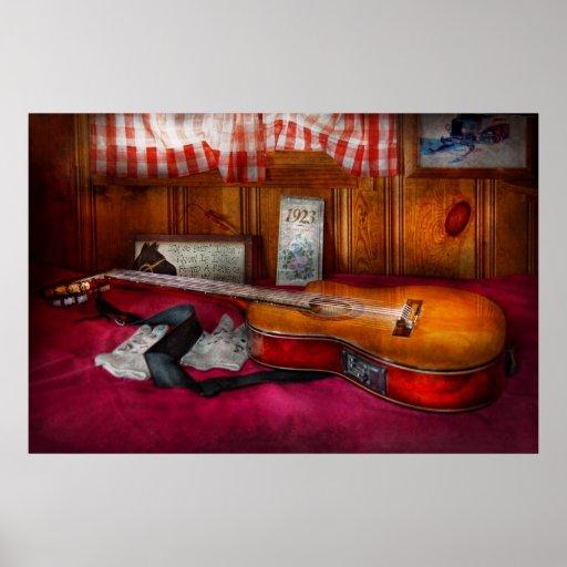Música - guitarra - que sensación del país viejo póster