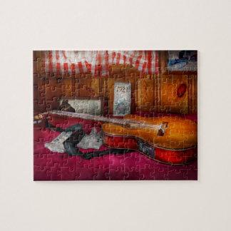 Música - guitarra - que sensación del país viejo rompecabeza con fotos