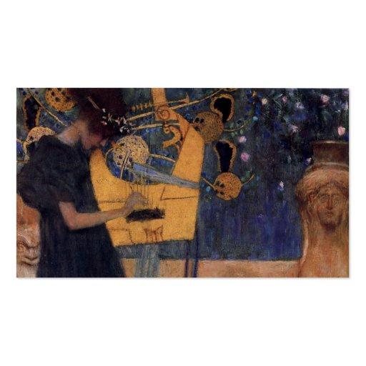 Música - Gustavo Klimt Tarjeta De Visita