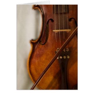 Música hermosa--Violín Tarjeton