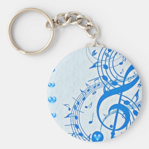 Música I Love_ Llavero Redondo Tipo Pin