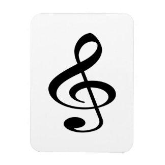 Música Imán Foto Rectangular