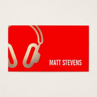 Música intrépida fresca del rojo de los tarjetas de visita