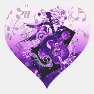 Música Journey_ Pegatina En Forma De Corazón