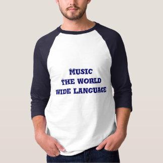 Música la lengua mundial playeras