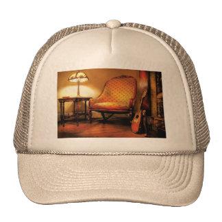 Música - la silla y el laúd gorras