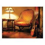 Música - la silla y el laúd invitaciones personalizada
