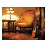 Música - la silla y el laúd membretes personalizados