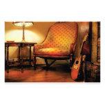 Música - la silla y el laúd papelería de diseño