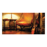 Música - la silla y el laúd tarjetas personales con fotos