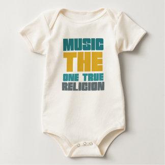 Música - la una religión verdadera body de bebé