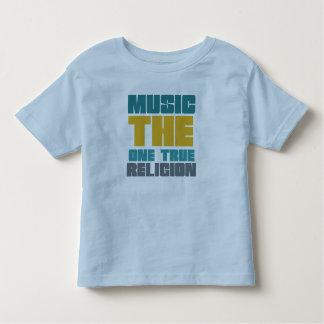 Música - la una religión verdadera playera de niño