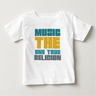 Música - la una religión verdadera playera para bebé