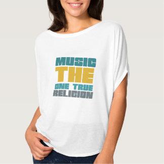 Música - la una religión verdadera playeras