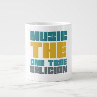 Música - la una religión verdadera taza grande