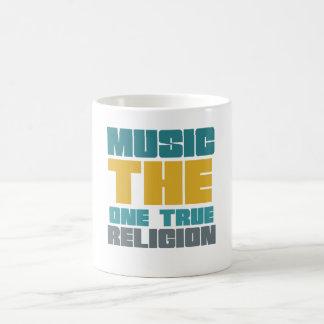 Música - la una religión verdadera taza mágica