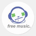 música libre, jammie libre etiquetas redondas