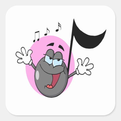 música linda del canto personaje de dibujos animad colcomania cuadrada