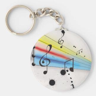 Música Llavero Redondo Tipo Pin